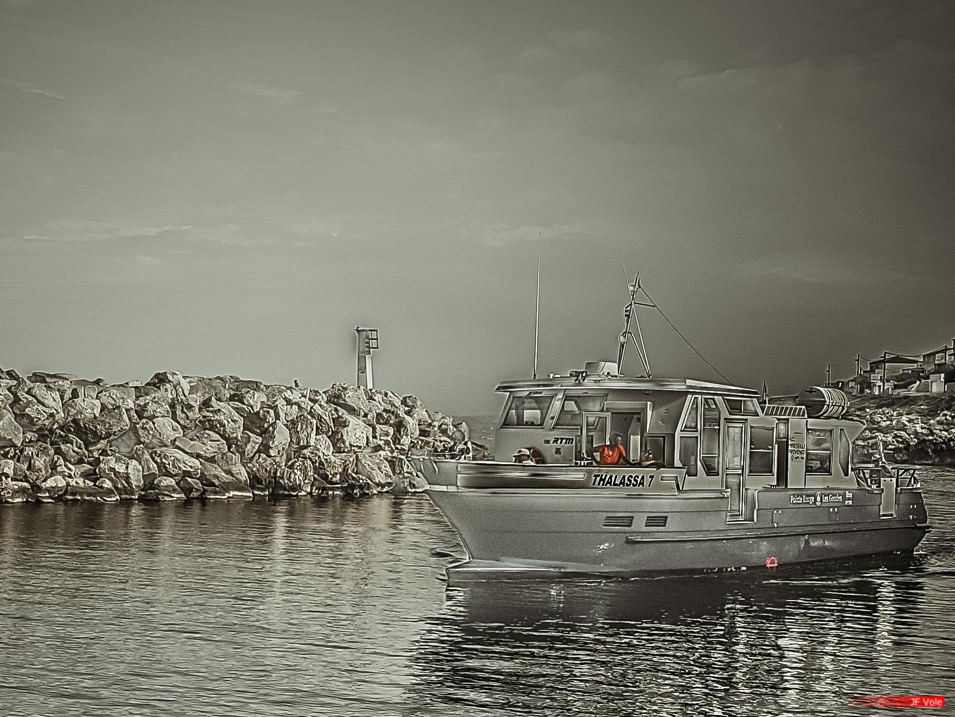 Port des Goudes, Marseille, août 2017.