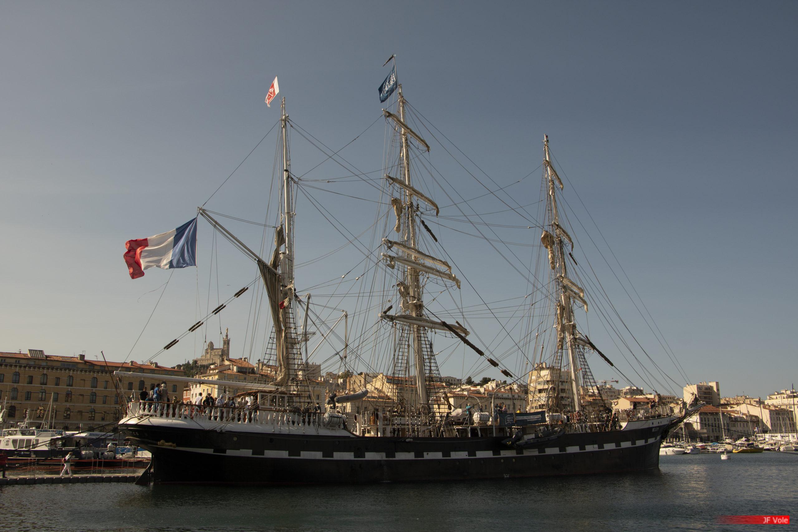 Le Belem à Marseille 1 et 2 septembre 2018.